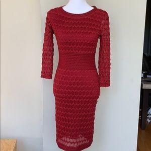 MAX STUDIO Lace Bodycon Dress